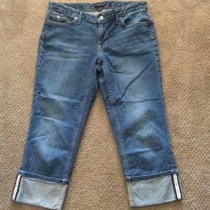 Banana Republic Capri blue jeans 10/30